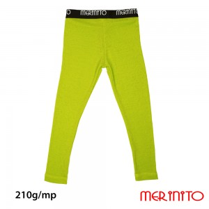 Pantaloni First Layer Merinito Rib Pointelle 100% Merinos 210g K Lime
