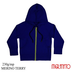 Hanorac Copii Merinito French Terry 100% Lana Merinos Albastru