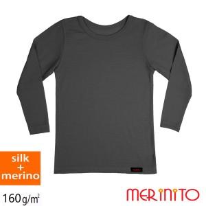 Bluza Copii Merinito 70% Matase 30% Lana Merinos Antracit