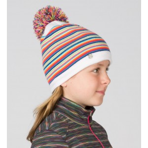 Caciula Spyder Girls Stripes Alb/Multicolor