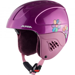 Casca Ski Alpina Carat happy flowers