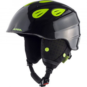 Casca Ski Alpina Grap 2.0 JR charcoal/neon yellow