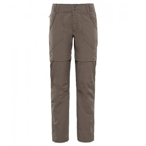 Pantaloni Femei Hiking The North Face Horizon Convertible Maro
