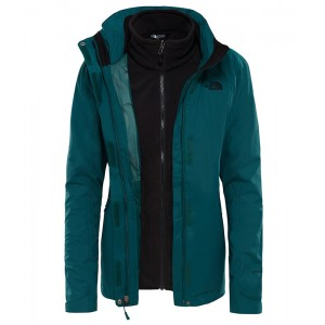 Geaca Femei Hiking The North Face Evolution II Triclimate Verde / Negru