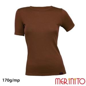 Tricou Femei Merinito 170G Lana Merinos Maro