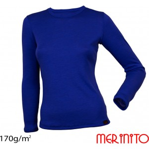 Bluza First Layer Femei Merinito Albastra