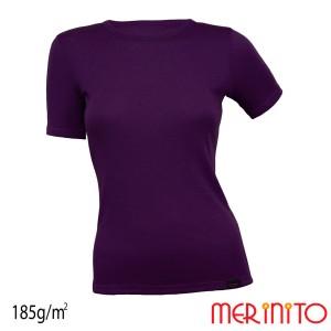 Tricou Femei Merinito 185G 100% Lana Merinos Mov