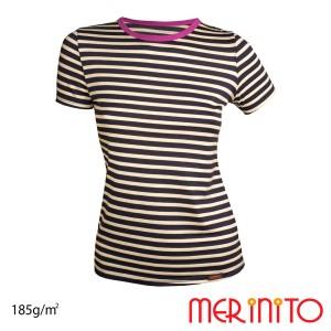 Tricou Femei Merinito 185G 100% Lana Merinos Multicolor