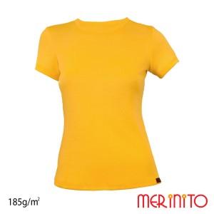 Tricou Femei Merinito 185G 100% Lana Merinos Galben