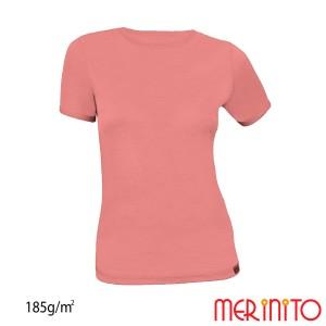 Tricou Femei Merinito 185G 100% Lana Merinos Roz