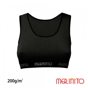 Bustiera Merinito 100% Merinos 200g W Negru