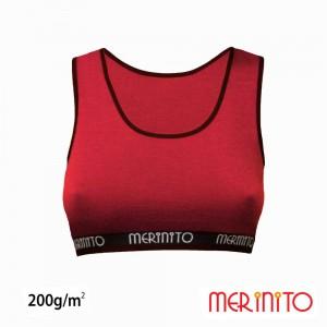 Bustiera Merinito 100% Merinos 200g W Rosu