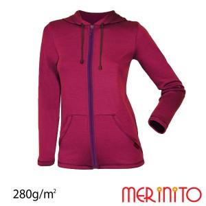 Hanorac Femei Merinito 100% Lana Merinos Mov
