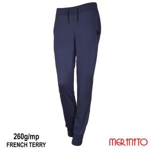 Pantaloni Femei Merinito Jogger French Terry 260G 100% Lana Merinos Albastru