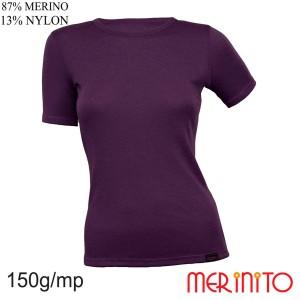 Tricou Femei Merinito 150G 87% Lana Merinos 13% Nylon Violet