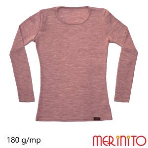 Bluza Femei Merinito Rib Pointelle 100% Lana Merinos Roz