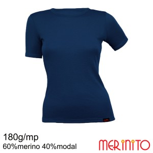 Tricou Femei Merinito 180G 60% Merino 40% Modal Bleumarin