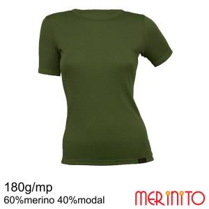 Tricou Femei Merinito 180G 60% Merino 40% Modal Kaki