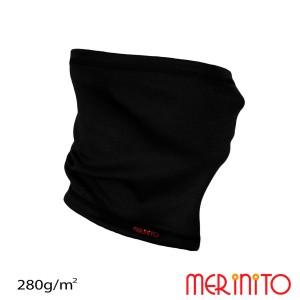 Neck Tube Unisex Merinito 280G Lana Merinos Negru