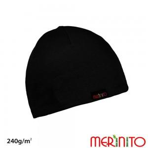 Caciula Merinito Merinos + Bambus 240g Negru