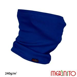 Neck Tube Unisex Merinito 240G Lana Merinos Si Bambus Albastru