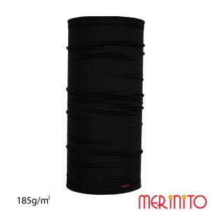 Neck Tube Merinito Merinos 185g Negru