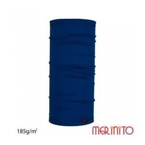 Neck Tube Unisex Merinito 185G Lana Merinos Bleumarin