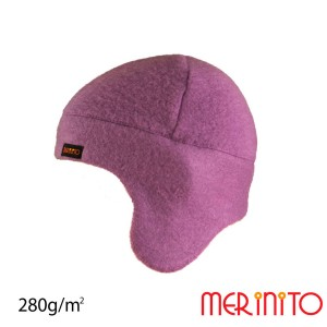 Caciula Unisex Merinito Soft Fleece 100% Lana Merinos Violet