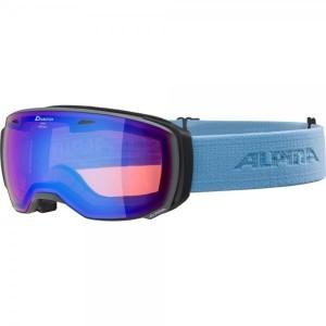 Ochelari Ski Si Snowboard Unisex Alpina Estetica HM Grey-Skyblue/Blue Sapphire Gri