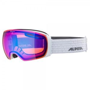 Ochelari Ski Si Snowboard Unisex Alpina Granby HM White/Blue Sapphire Alb