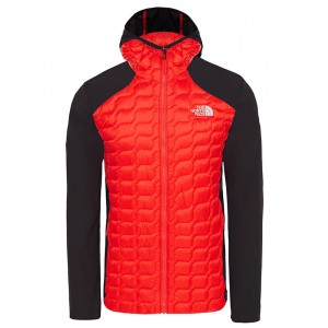 Geaca Barbati Hiking The North Face New Thermoball Hybrid Hoodie Rosu
