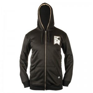 Hanorac Rome Sherpa Zip-Up Negru