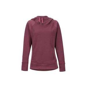 Hanorac Femei Marmot Rowan Hoody Dry Rose Heather (Visiniu)
