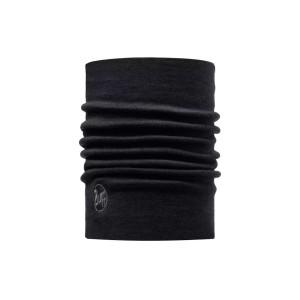 Neckwarmer Unisex Buff Heavyweight Merino Wool Solid Black
