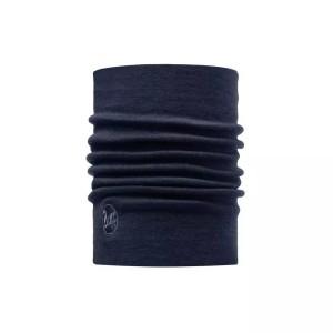 Neckwarmer Unisex Buff Heavyweight Merino Wool Solid Denim