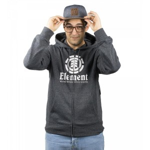 Hanorac Barbati Element Vertical Zip Hood Gri