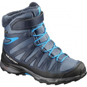 Incaltaminte Hiking Salomon X-Ultra Winter GTX J Albastru