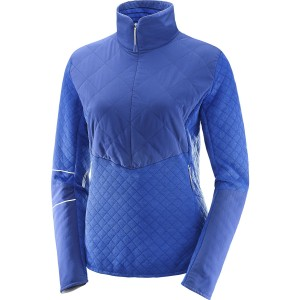 Bluza Salomon Elevate Warm HZ W Albastru