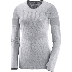Bluza Salomon Elevate Seamless LS W Gri