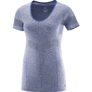 Tricou Salomon Elevate Seamless SS W Bleu