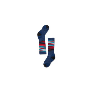 Sosete Ski Copii Smartwool Wintersport Stripe Alpine Blue (Albastru)