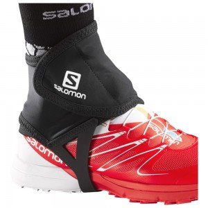 Protectii alergare Salomon Trail Gaiters Low Negre