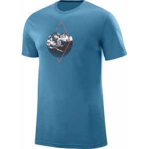 Tricou Hiking Salomon X Alp Graphic SS M Albastru