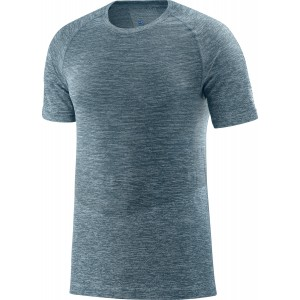 Tricou Hiking Salomon Allroad Seamless SS M Verde