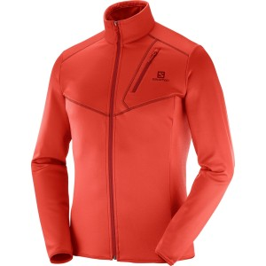 Bluza Mid-Layer Hiking Salomon Discovery FZ M Rosu
