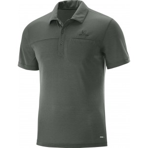 Tricou Hiking Salomon Explore Polo M Gri