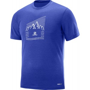 Tricou Hiking Salomon Explore Graphic SS M Albastru