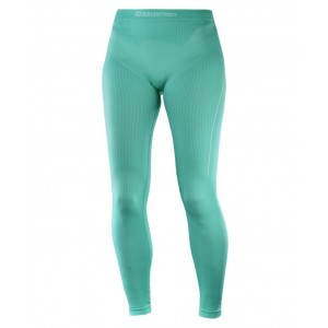 Pantaloni First Layer Ski Femei Salomon Primo Warm Verde