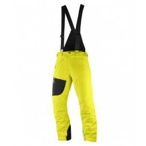 Pantaloni Ski si Snowboard Barbati Salomon Chill Out Bib Galben