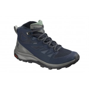 Ghete Barbati Hiking Salomon Outline Mid GTX Bleumarin / Gri